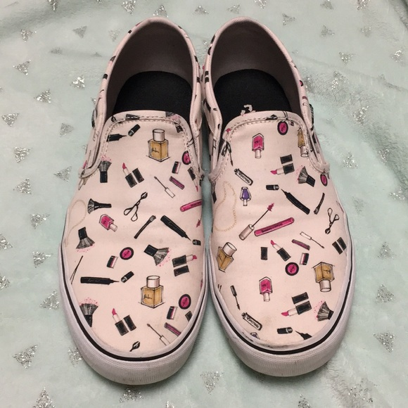 388081b58f4f8f Makeup print Vans slip-on sneakers. M 5bf8b35cc2e9fef62795c138. Other Shoes  ...